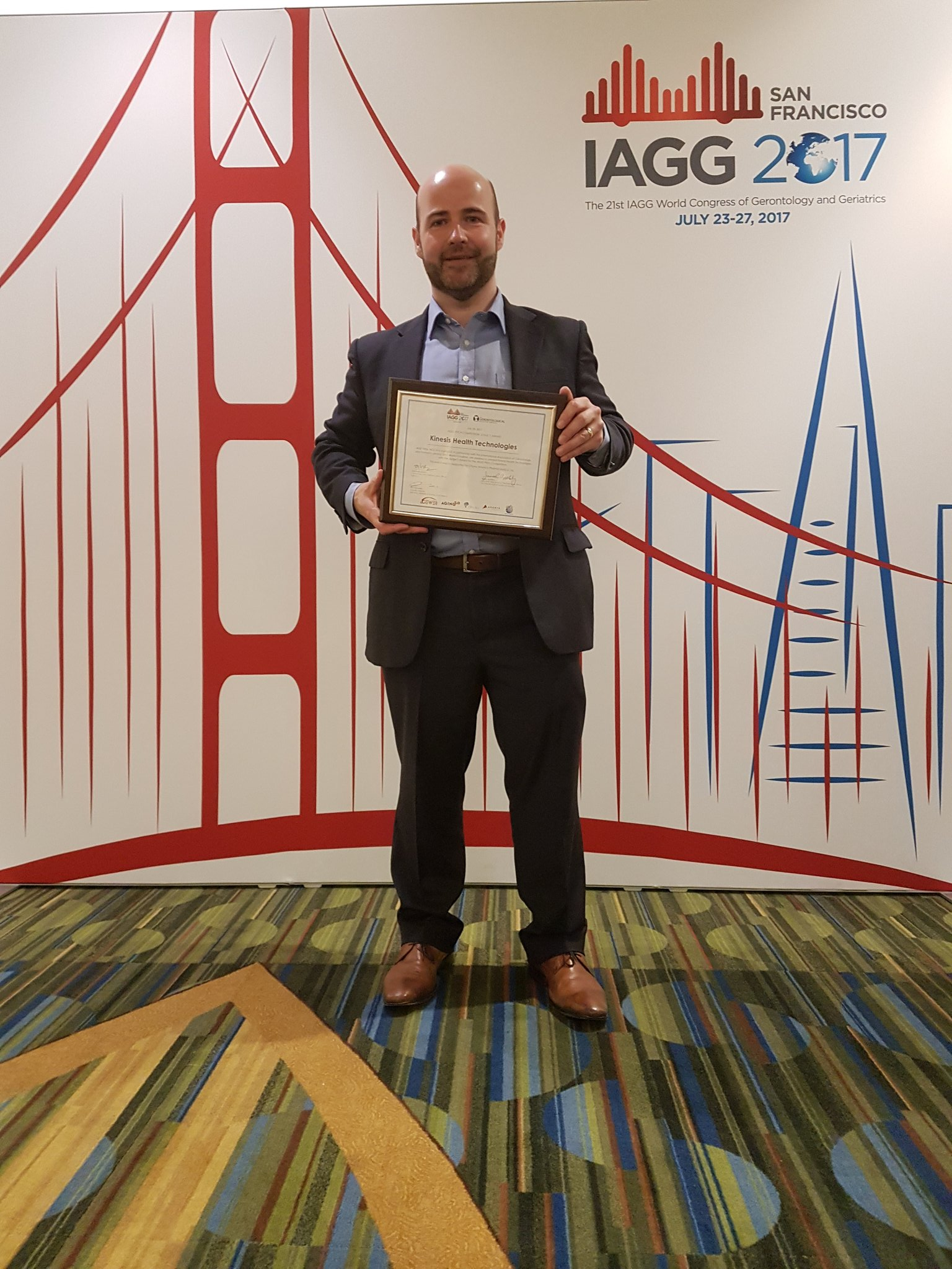 Kinesis win IAGG 2017 tech day pitch event!