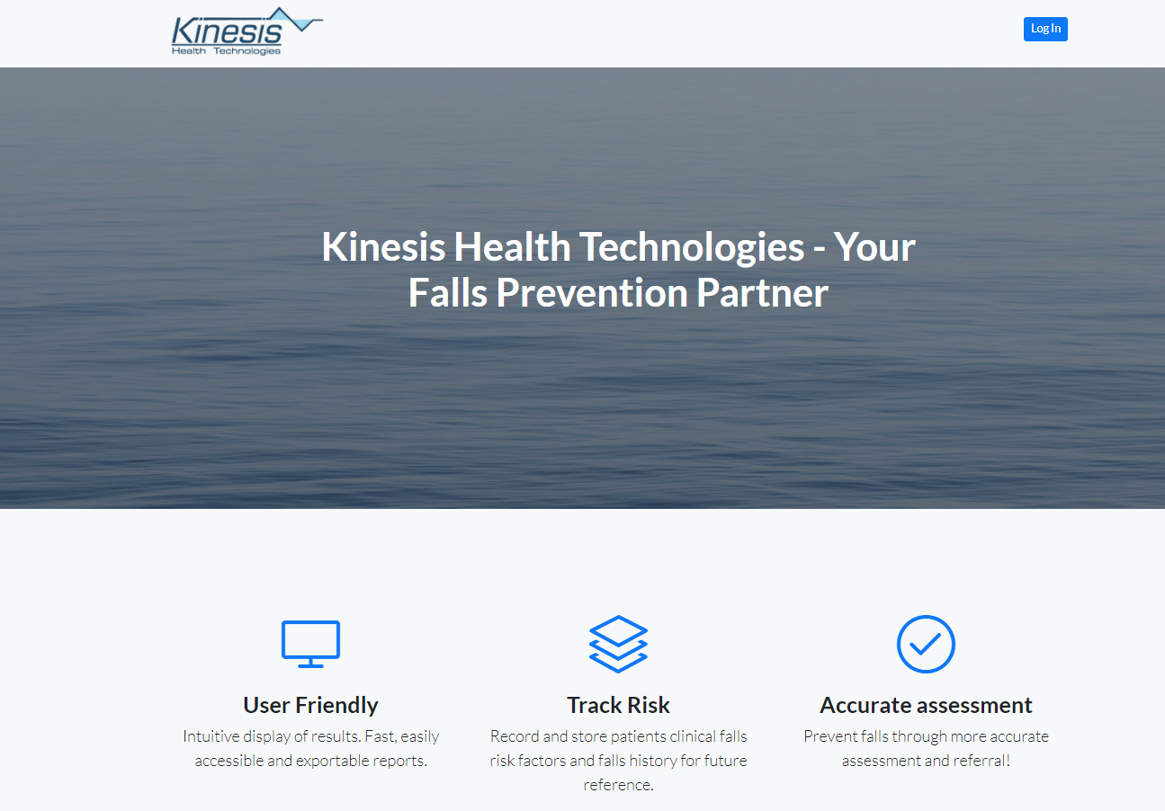 Kinesis web portal - predictive analytics dashboard